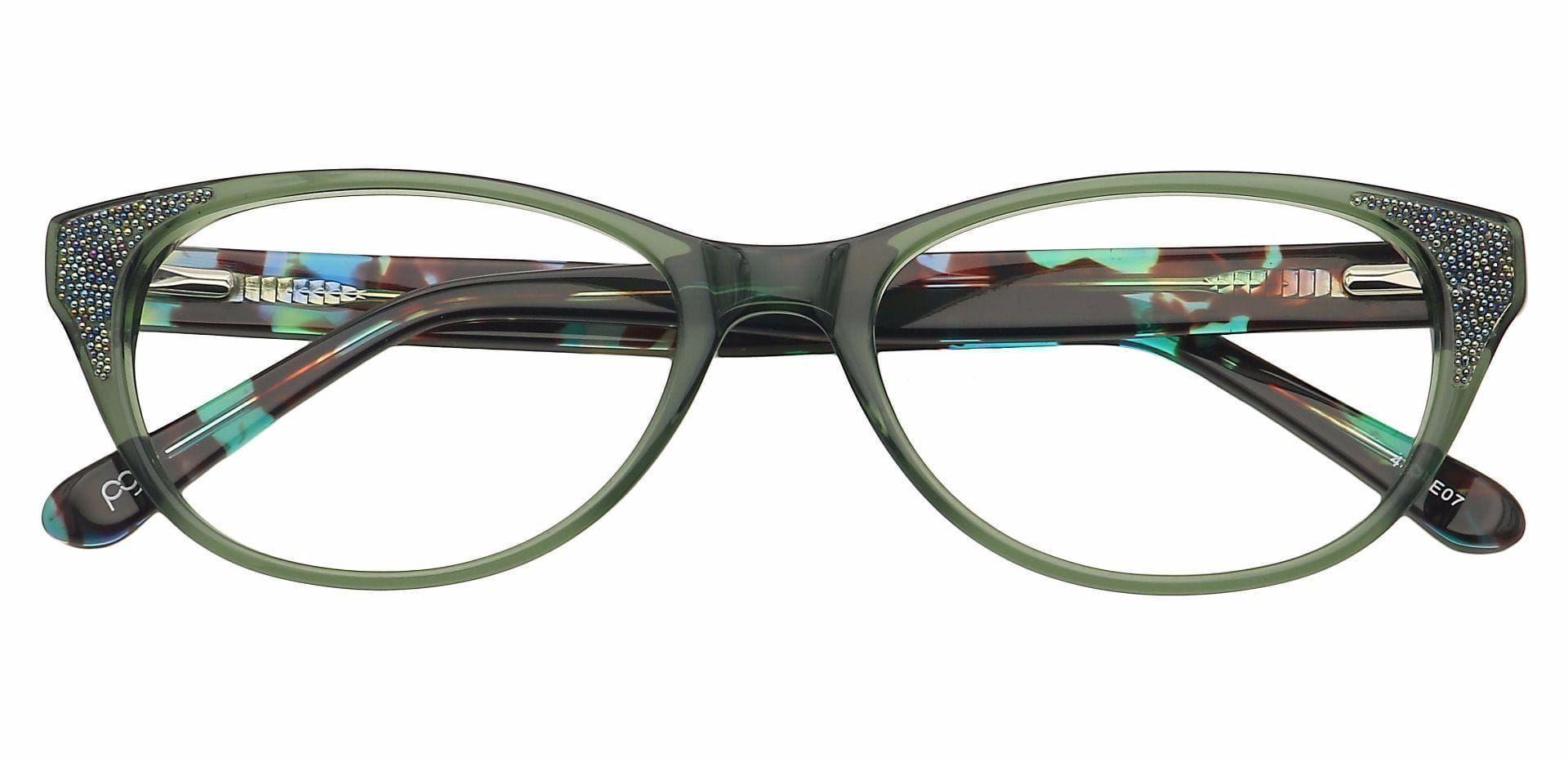 Rae Oval Blue Light Blocking Glasses - Green