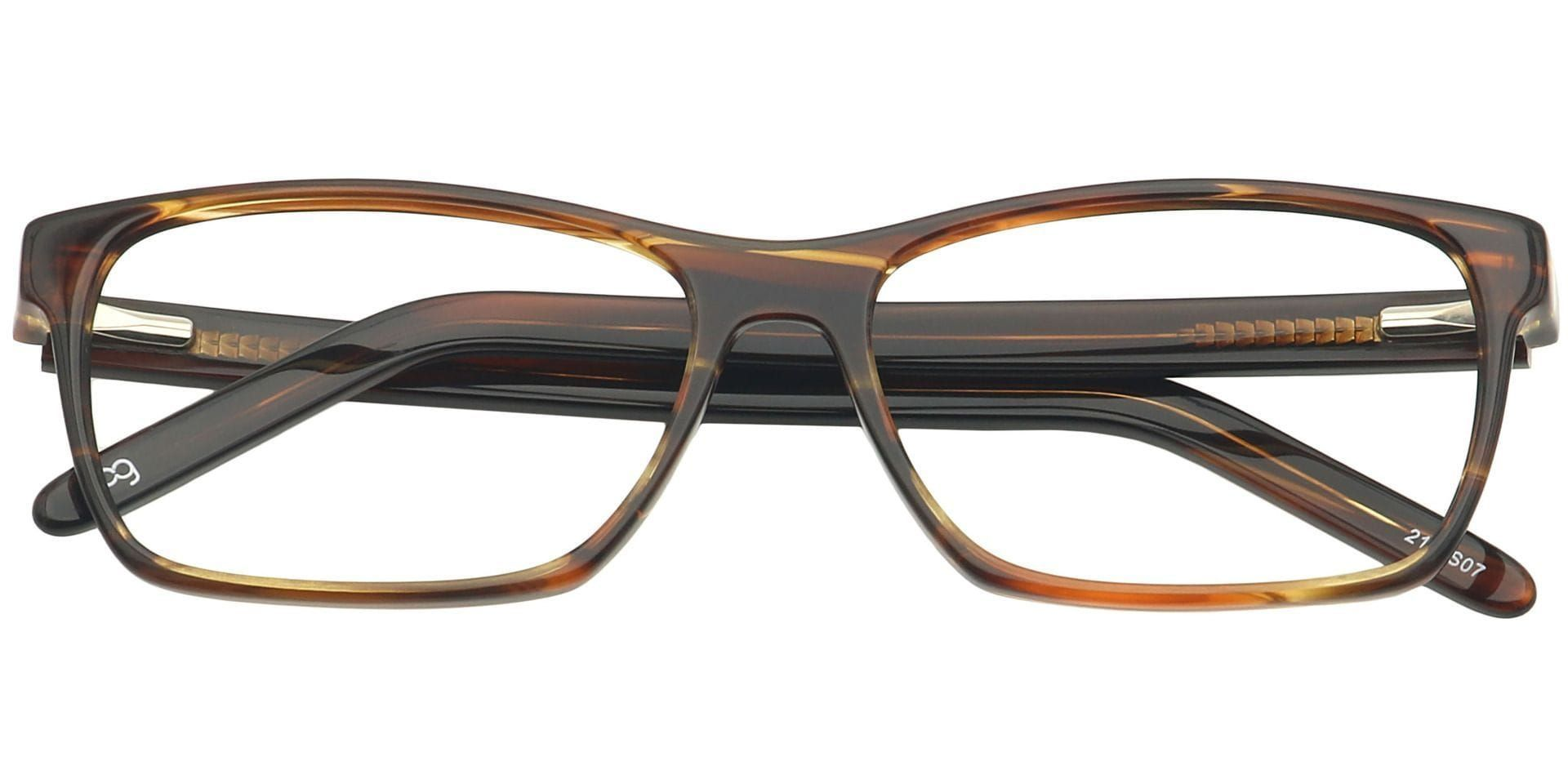 Dacre Rectangle Non-Rx Glasses - Tortoiseshell