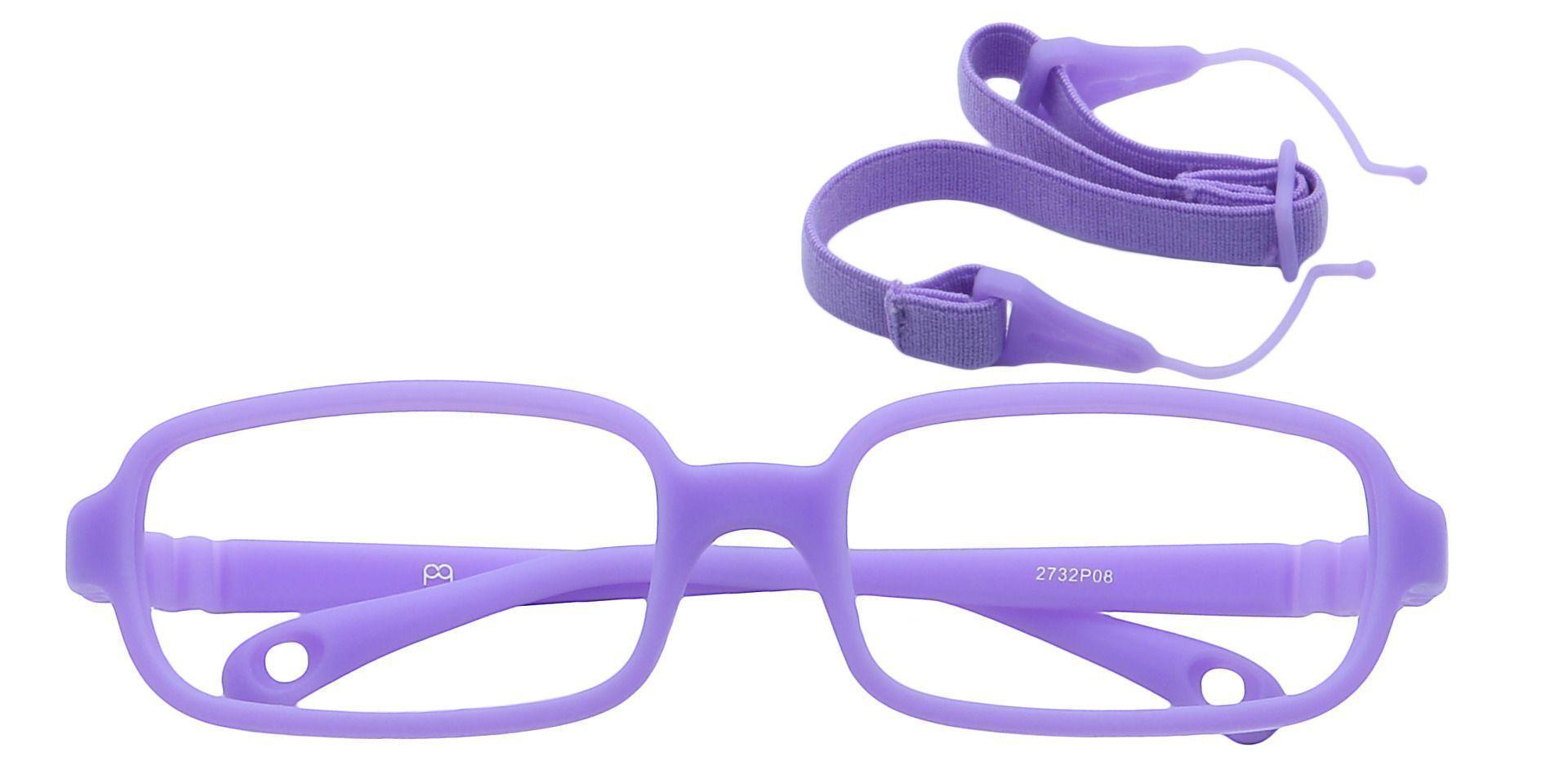 Archer Rectangle Single Vision Glasses - Purple