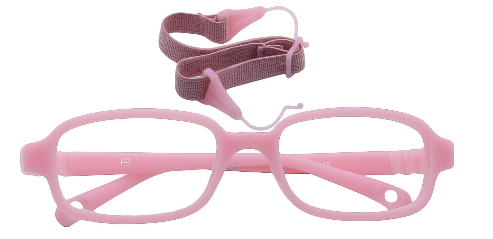 Jamie Rectangle Non-Rx Glasses - Pink