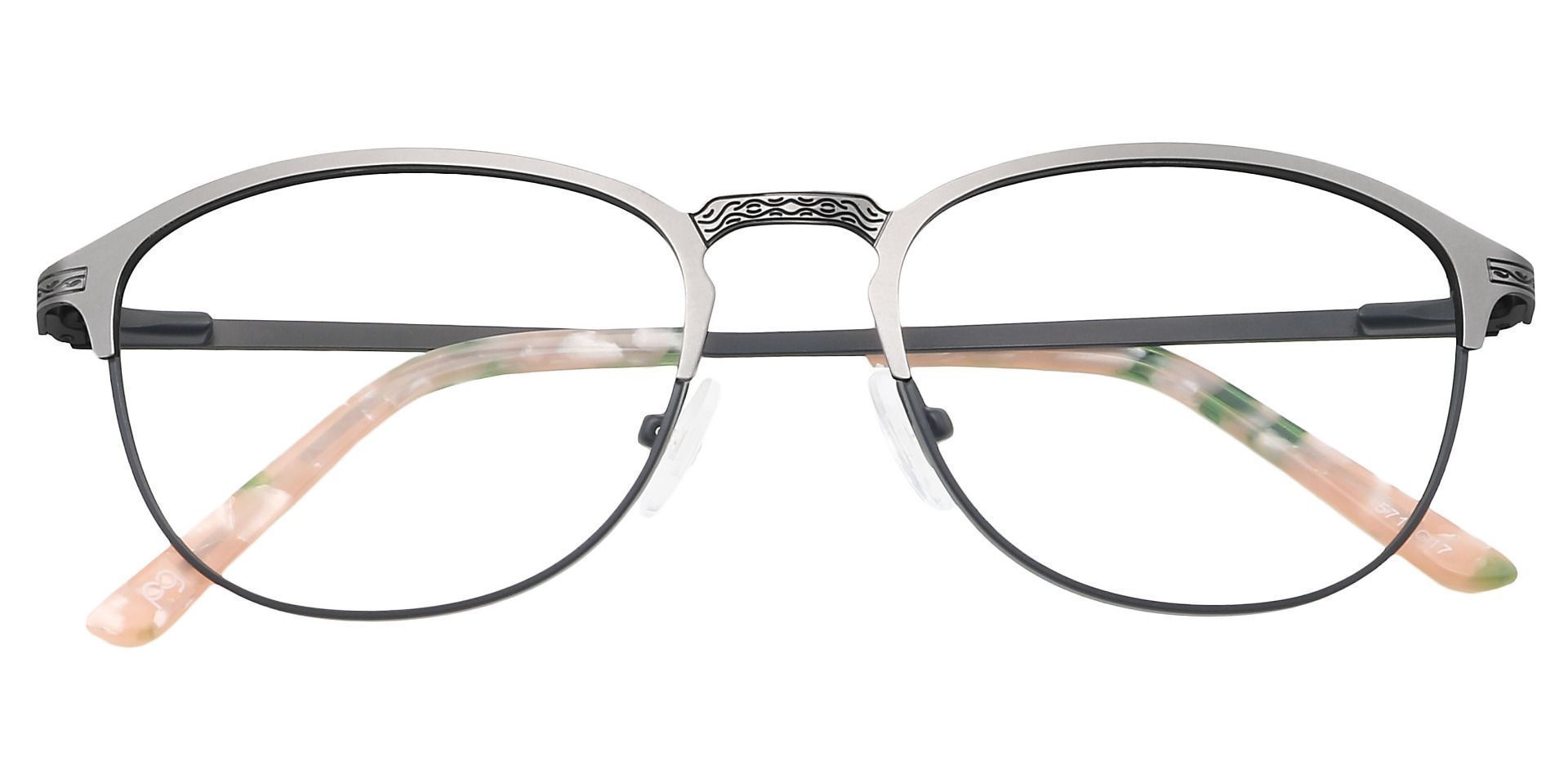 Mari Round Non-Rx Glasses - Black