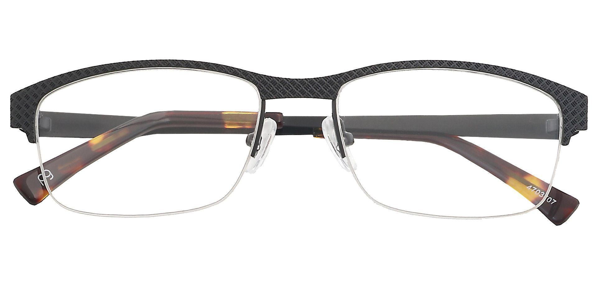 Bret Rectangle Lined Bifocal Glasses - Black