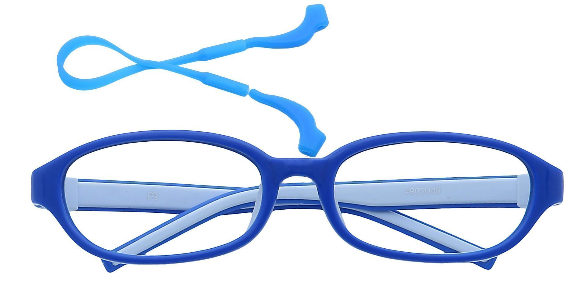 Scoop Oval Reading Glasses - Royal Blue/baby Blue
