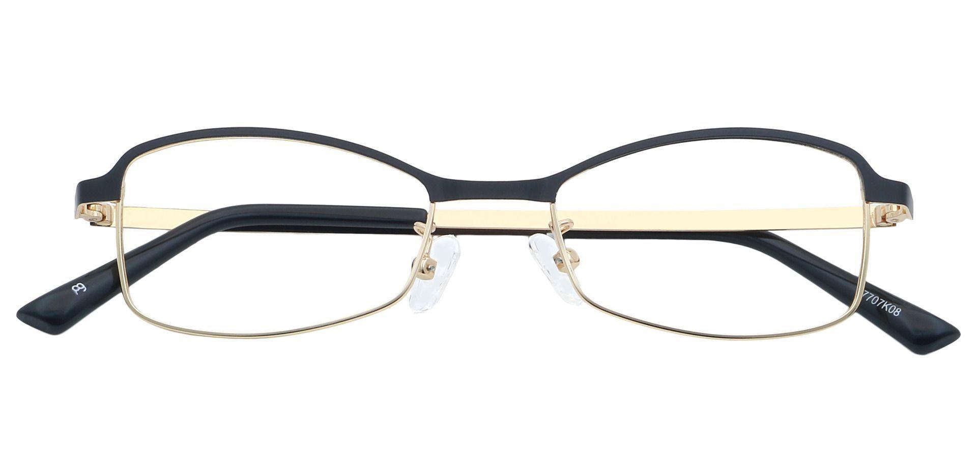 Shelby Rectangle Single Vision Glasses - Black
