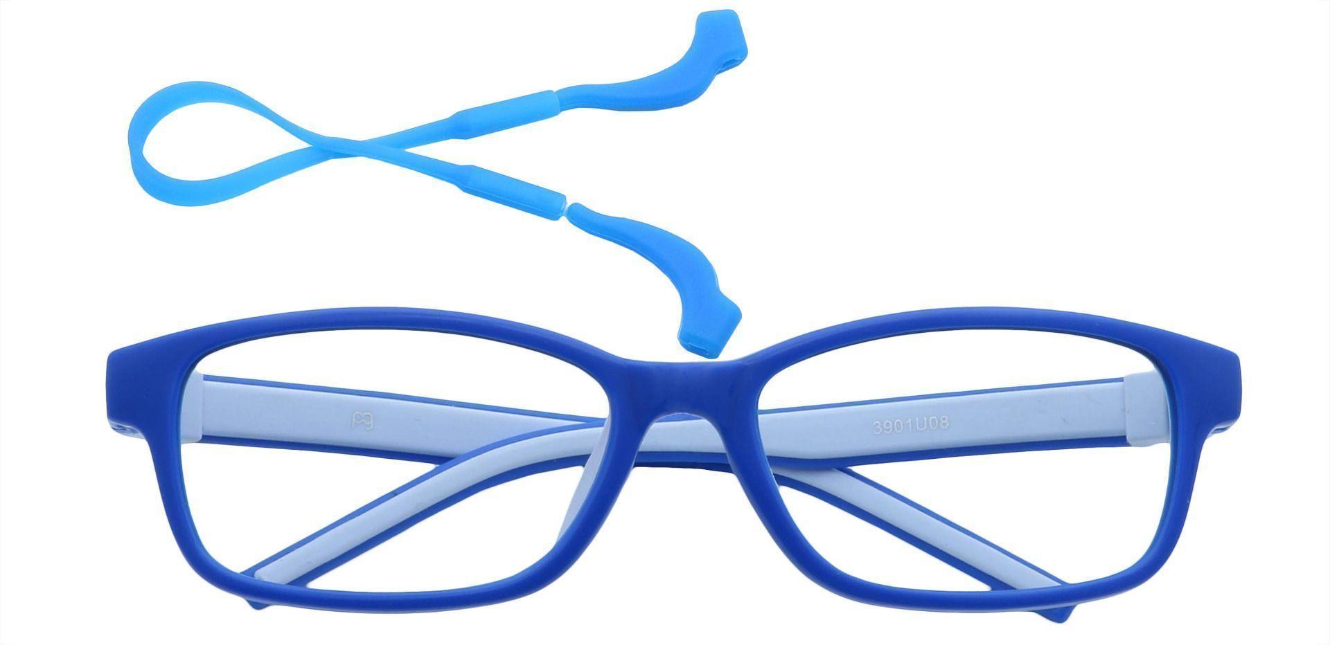 July Rectangle Single Vision Glasses - Blue
