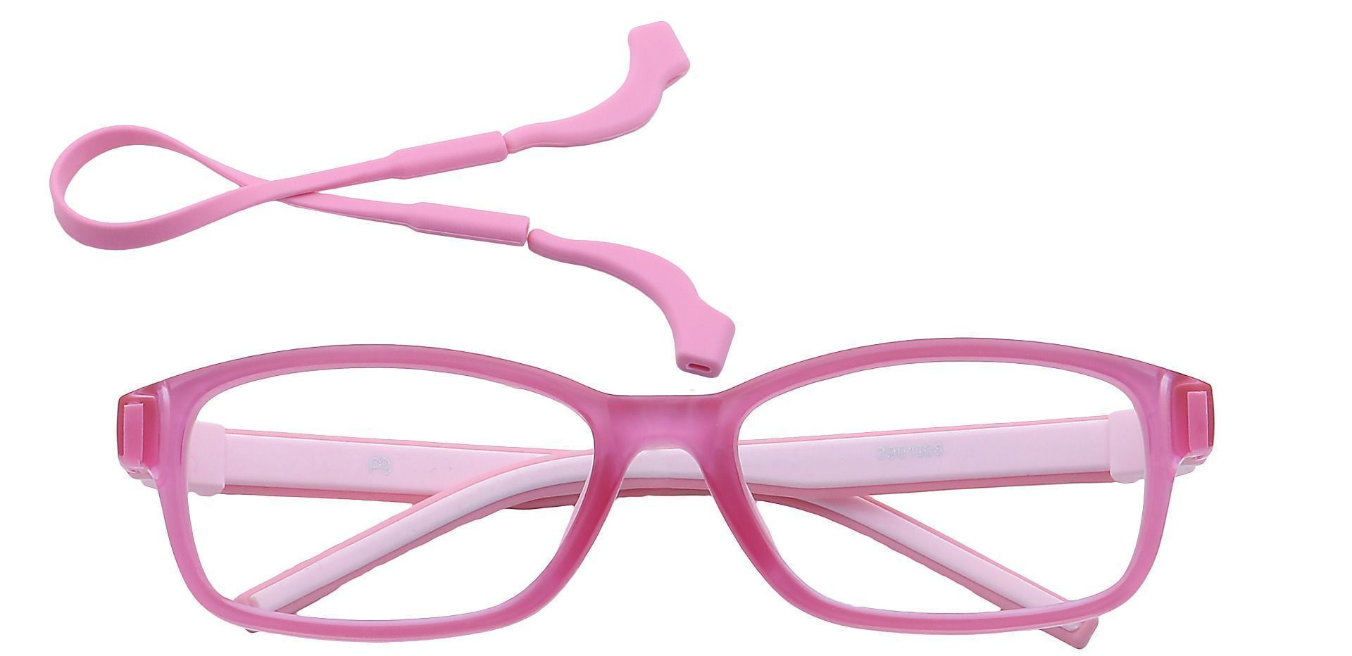 July Rectangle Single Vision Glasses - Pink