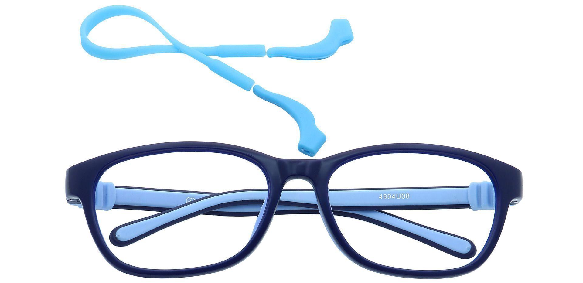 Edison Oval Prescription Glasses - Navy Blue/light Blue