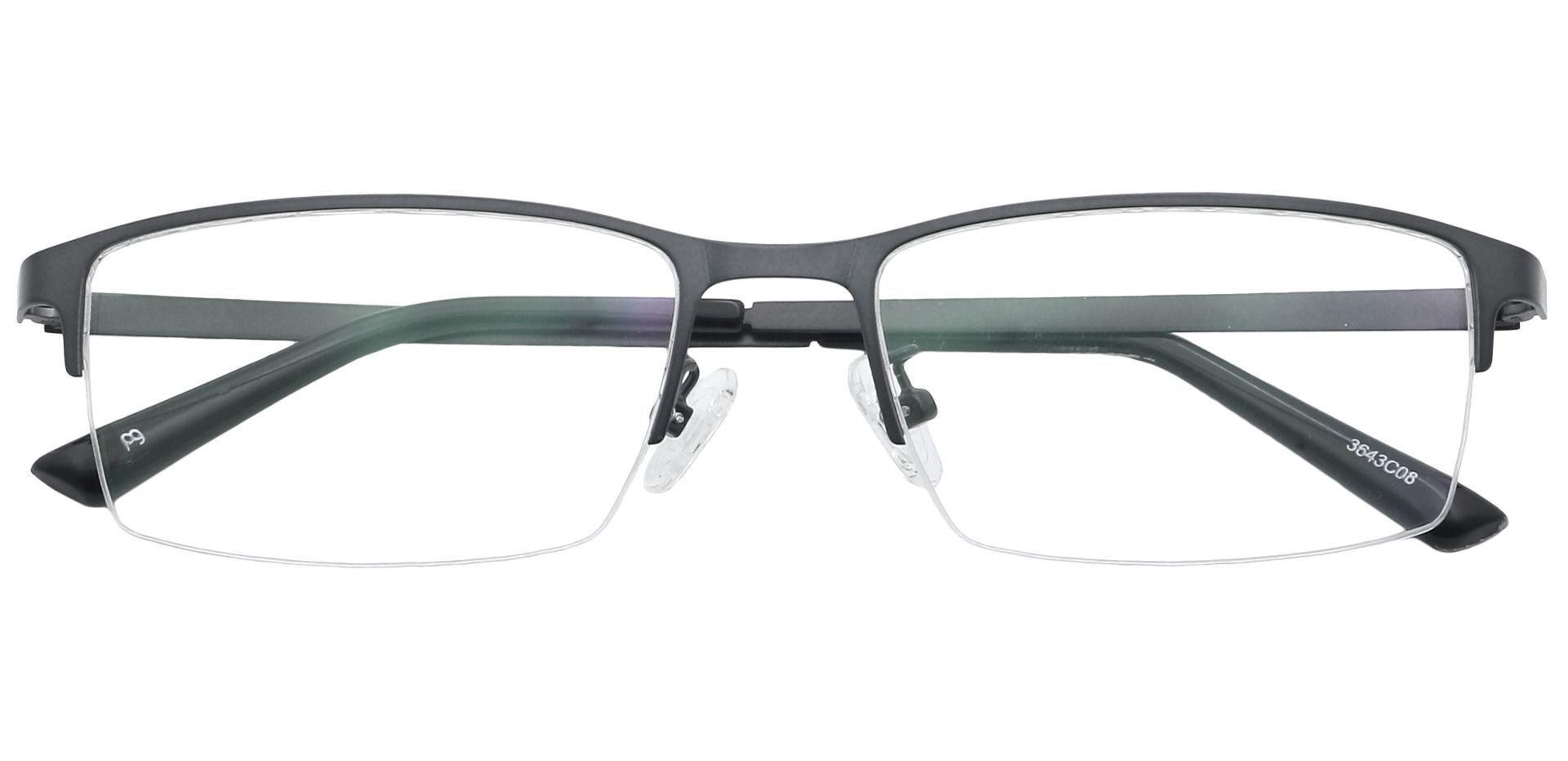 Percy Rectangle Progressive Glasses - Gray