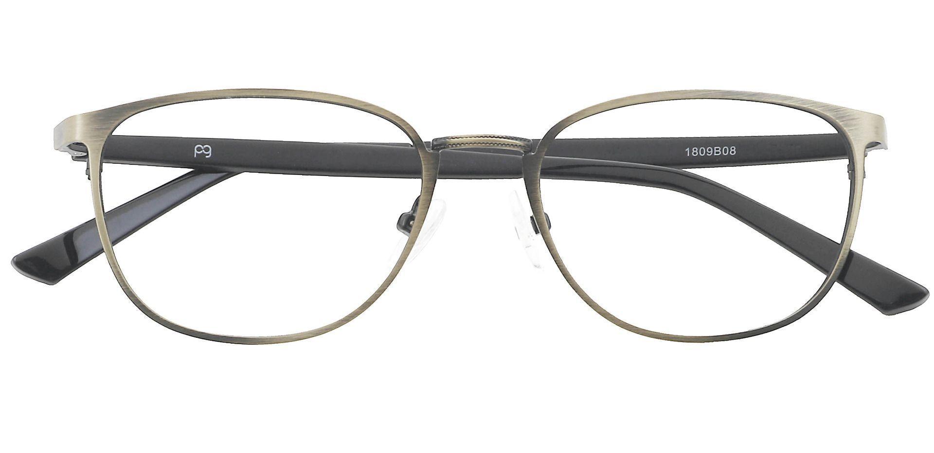 Sailor Square Progressive Glasses - Brown