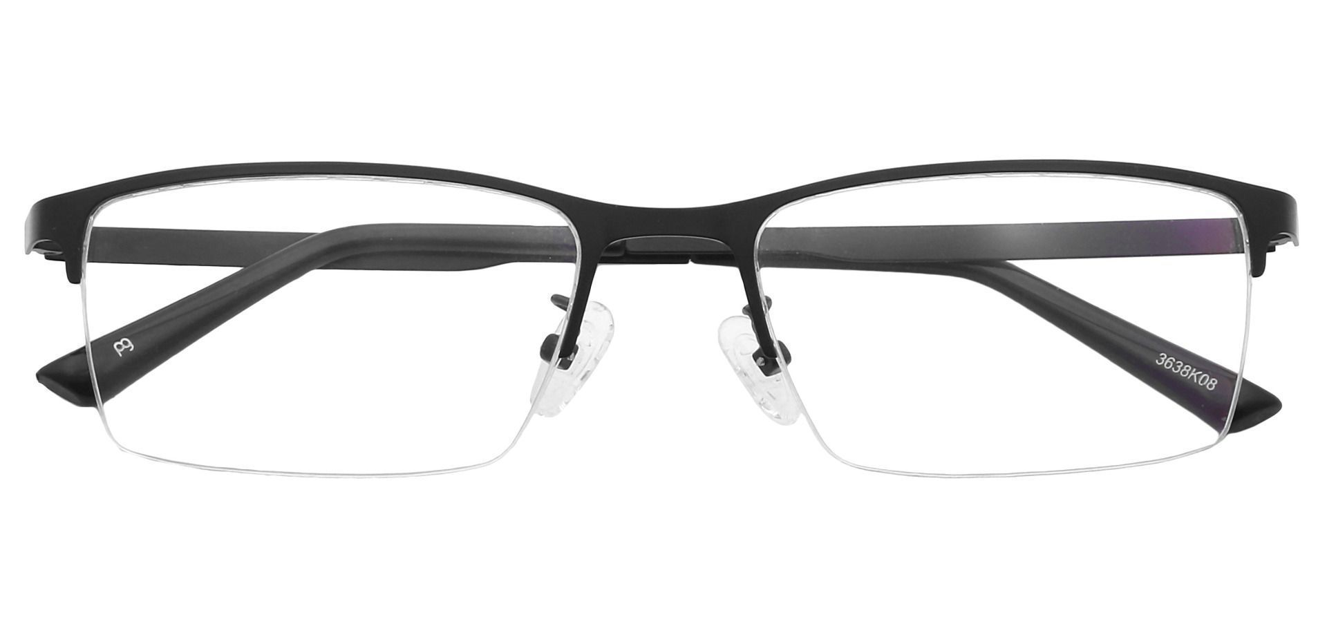 Rue Rectangle Lined Bifocal Glasses - Black