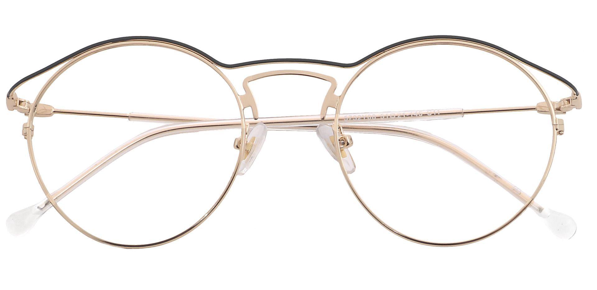 Milan Round Eyeglasses Frame - Yellow