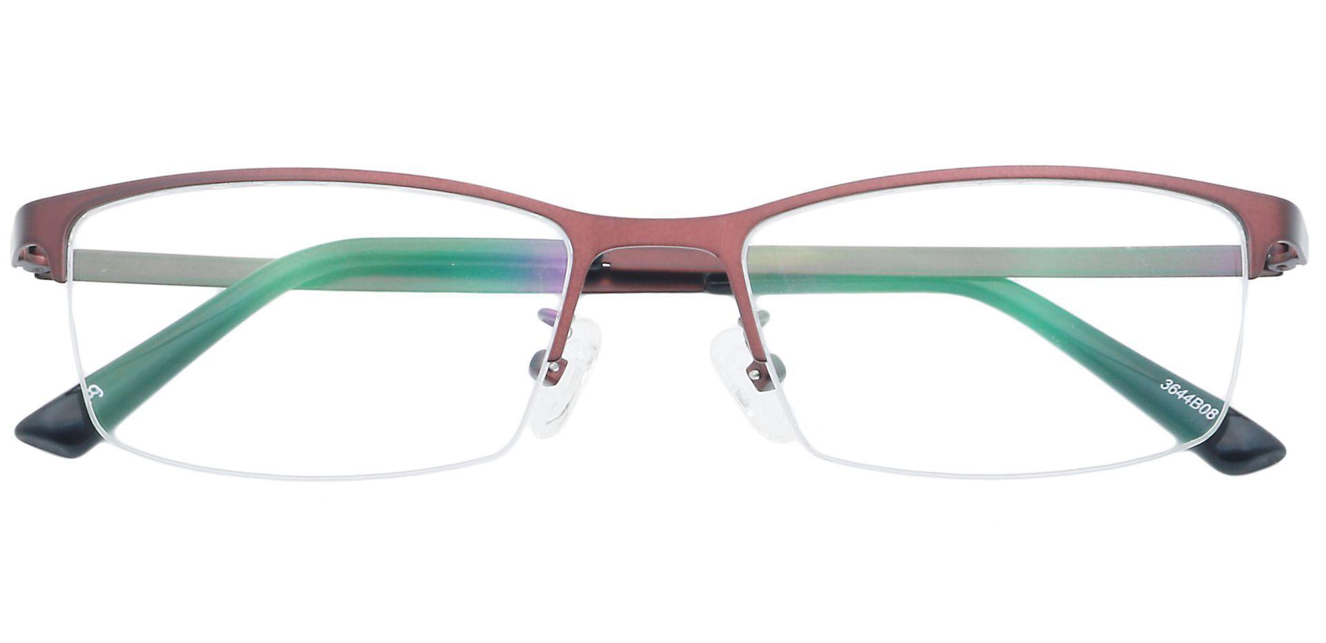 Parsley Rectangle Eyeglasses Frame - Brown