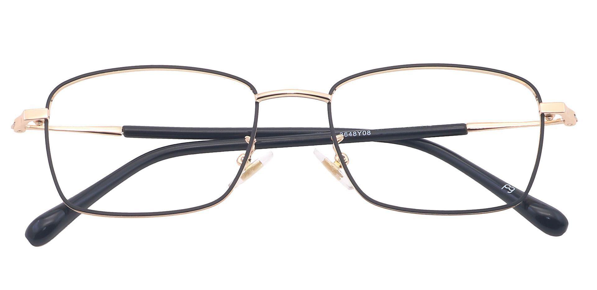 Diaz Rectangle Prescription Glasses - Yellow
