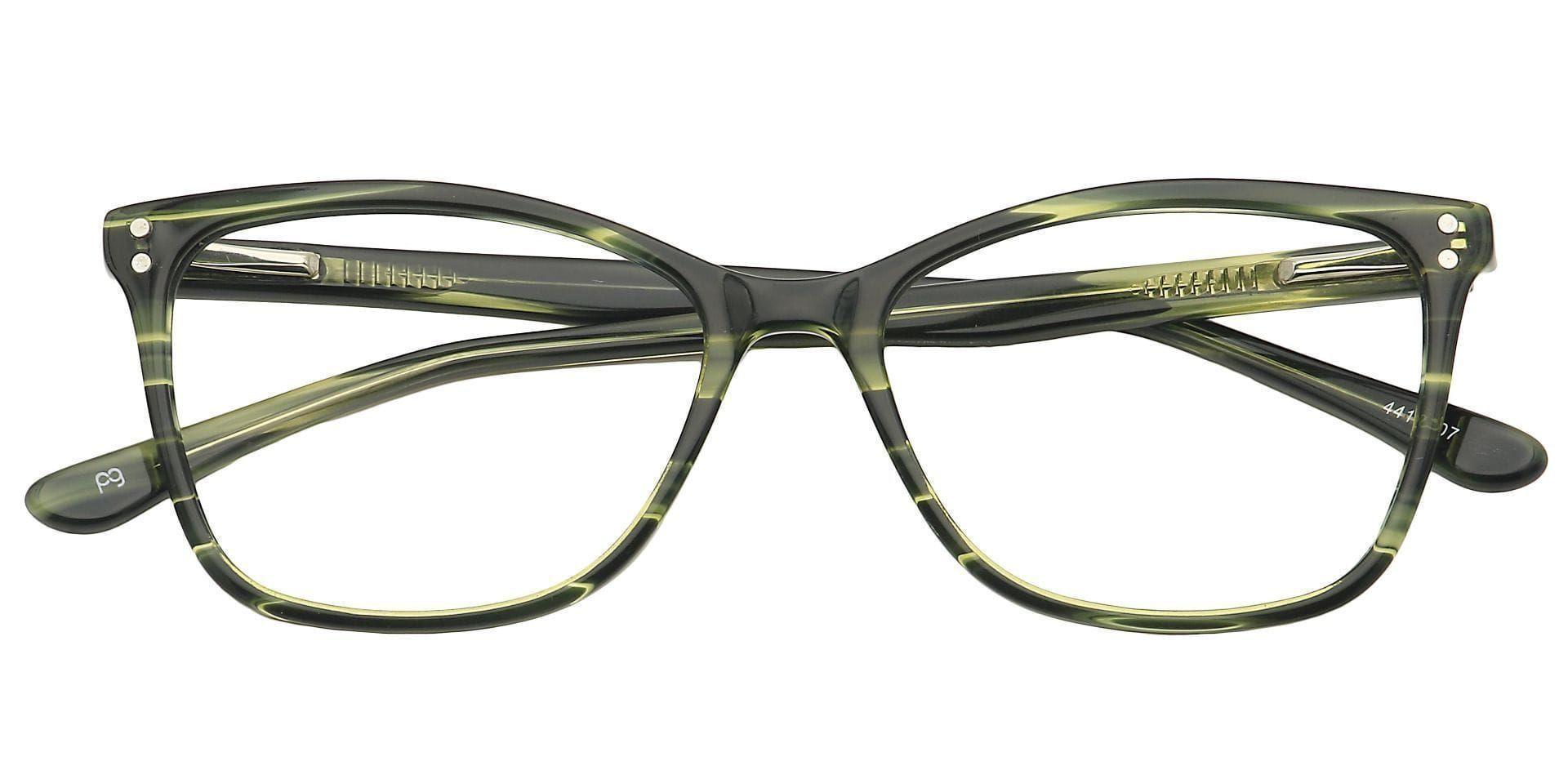 Jett Oval Prescription Glasses - Green