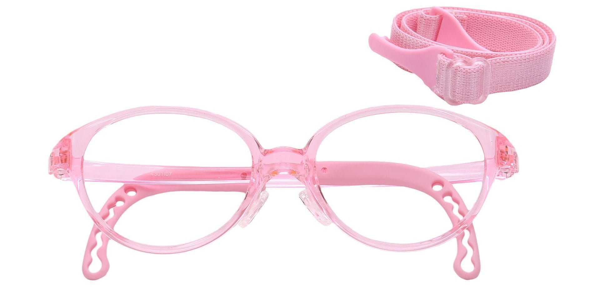 Zany Oval Prescription Glasses - Pink