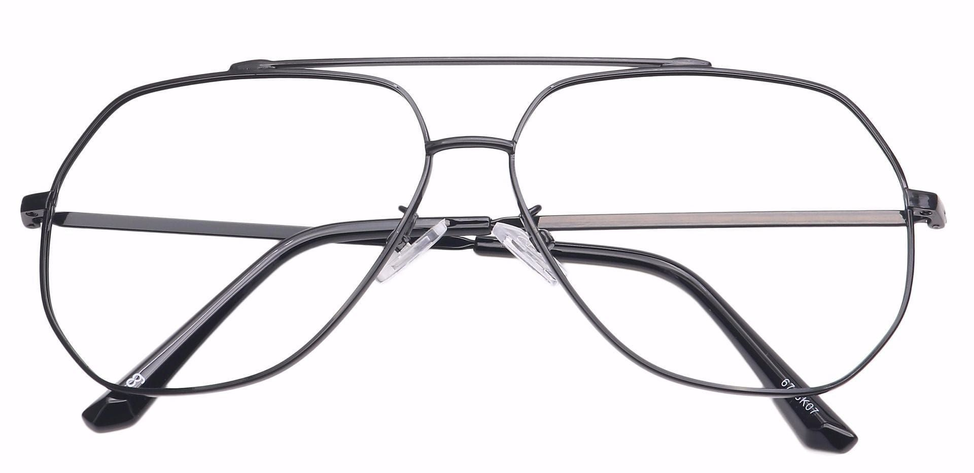Flair Aviator Eyeglasses Frame - Black