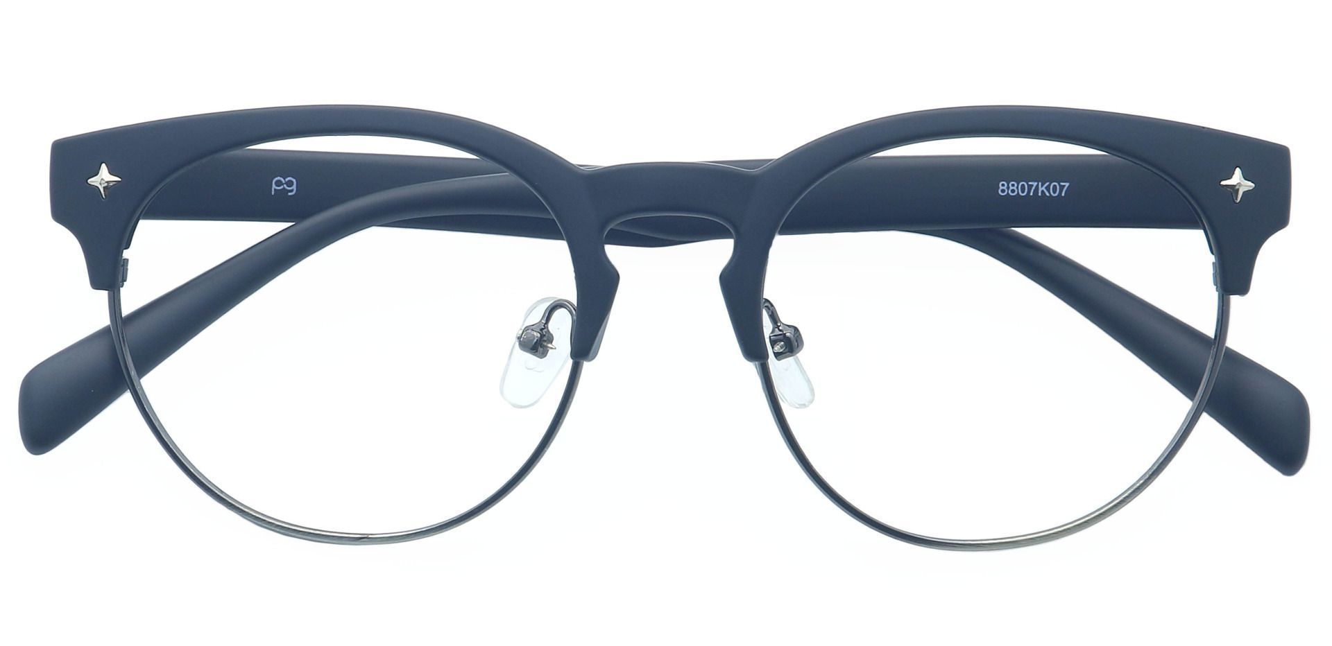 Georgio Browline Prescription Glasses - Black