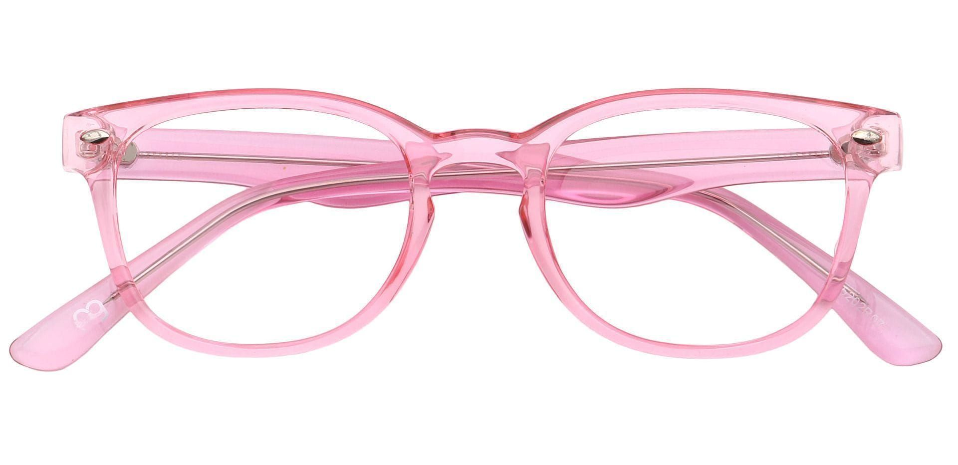 Betty Round Reading Glasses - Pink Crystal