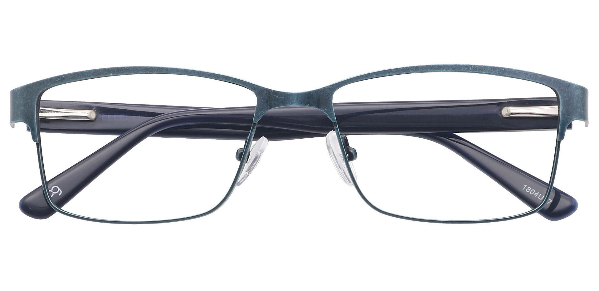Hal Rectangle Blue Light Blocking Glasses - Blue