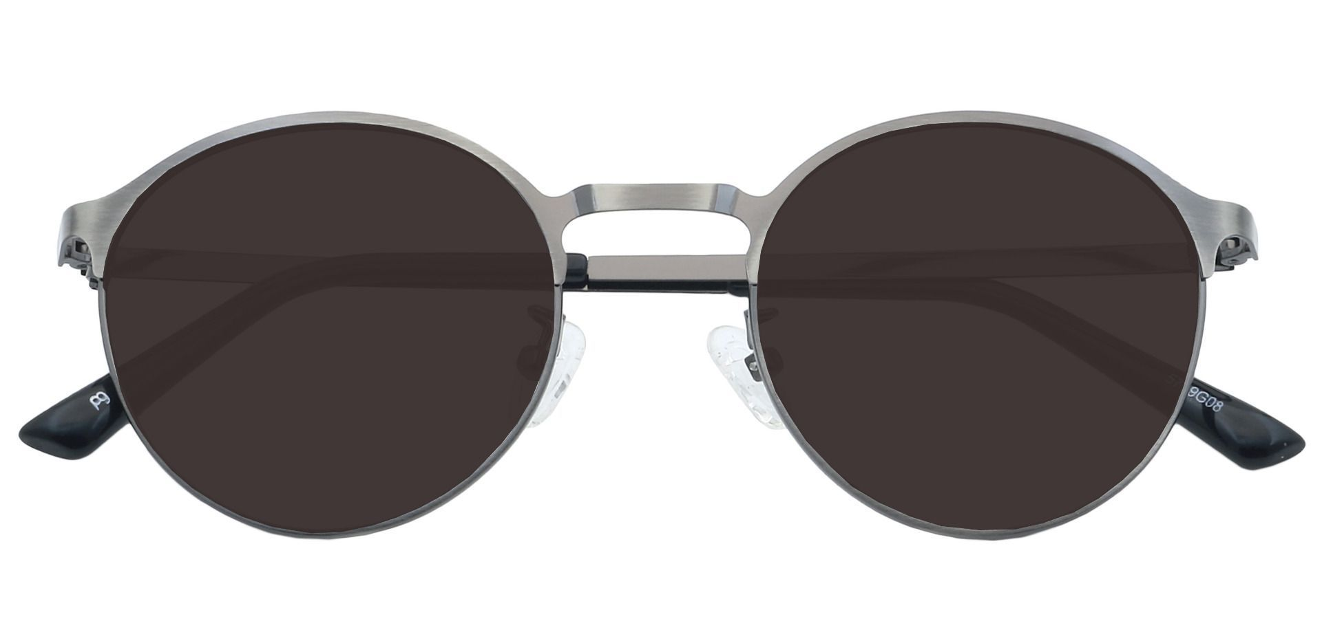 Perry Round Prescription Sunglasses - Gray Frame With Gray Lenses