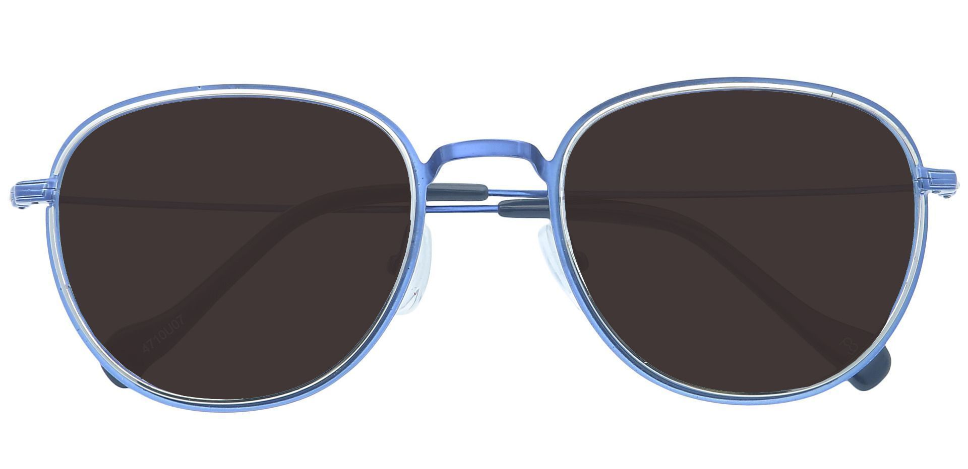 Foster Oval Progressive Sunglasses - Blue Frame With Gray Lenses