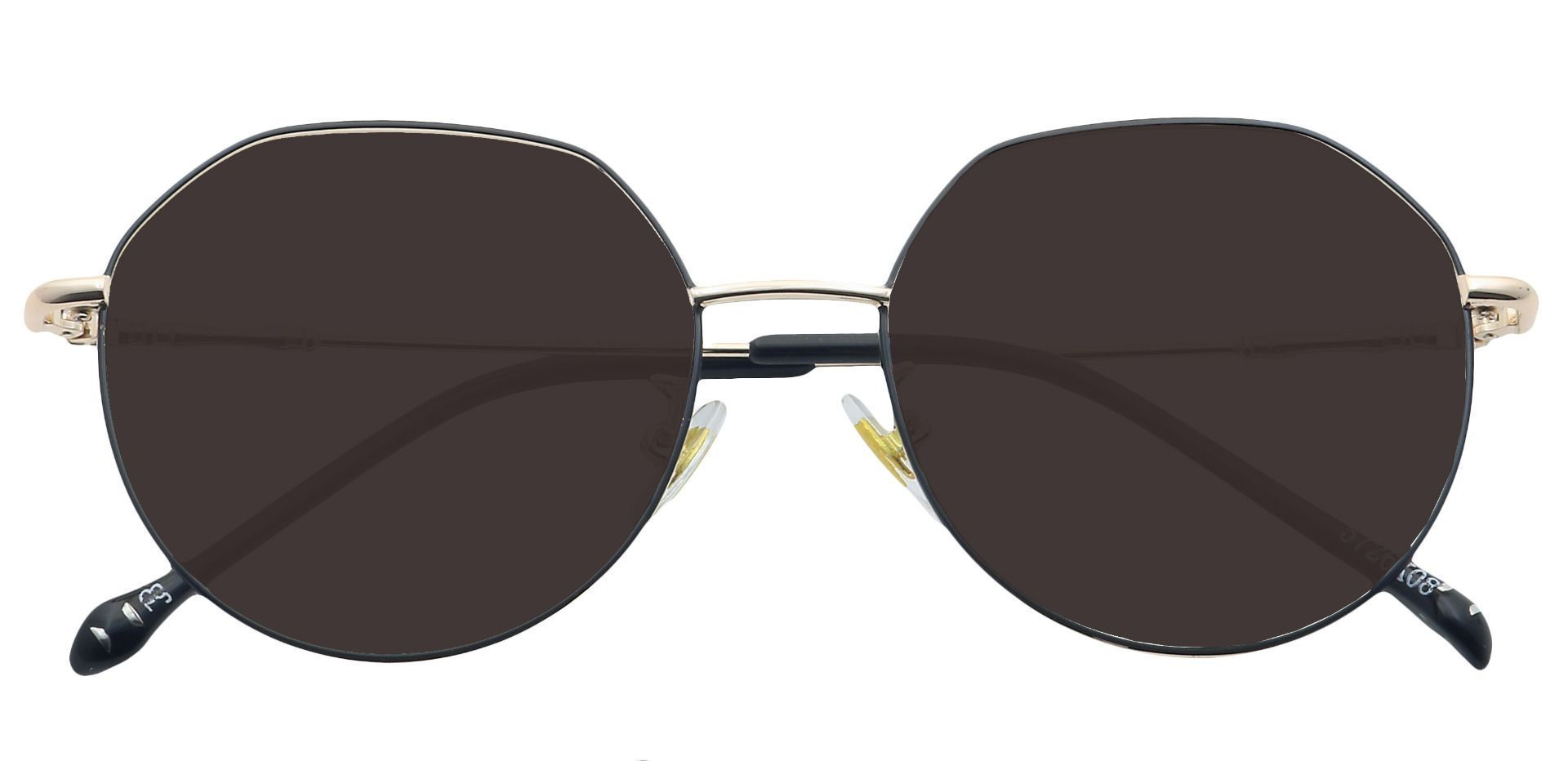 Wesley Round Prescription Sunglasses - Black Frame With Gray Lenses
