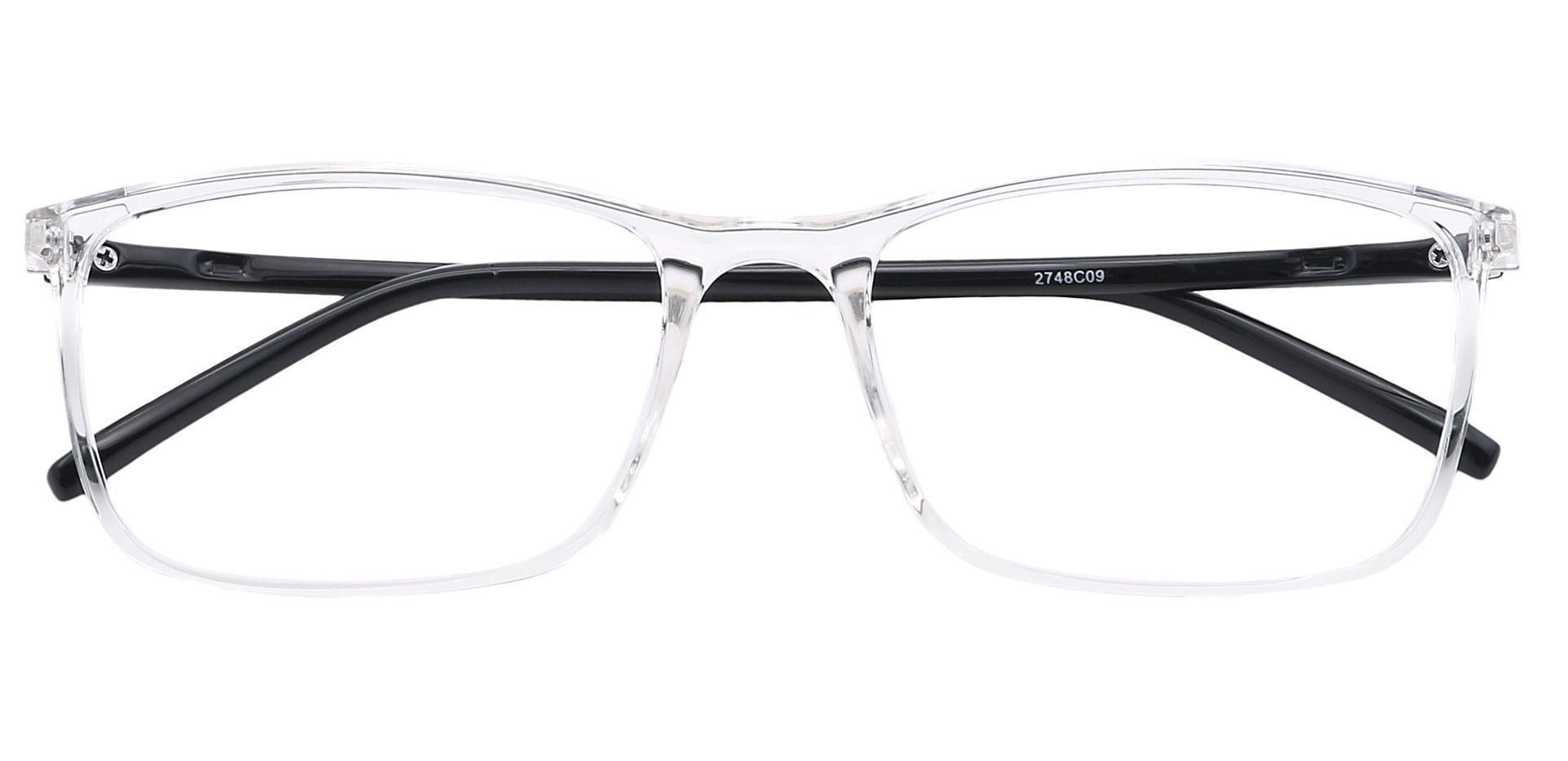Fuji Rectangle Progressive Glasses -  Crystal/black