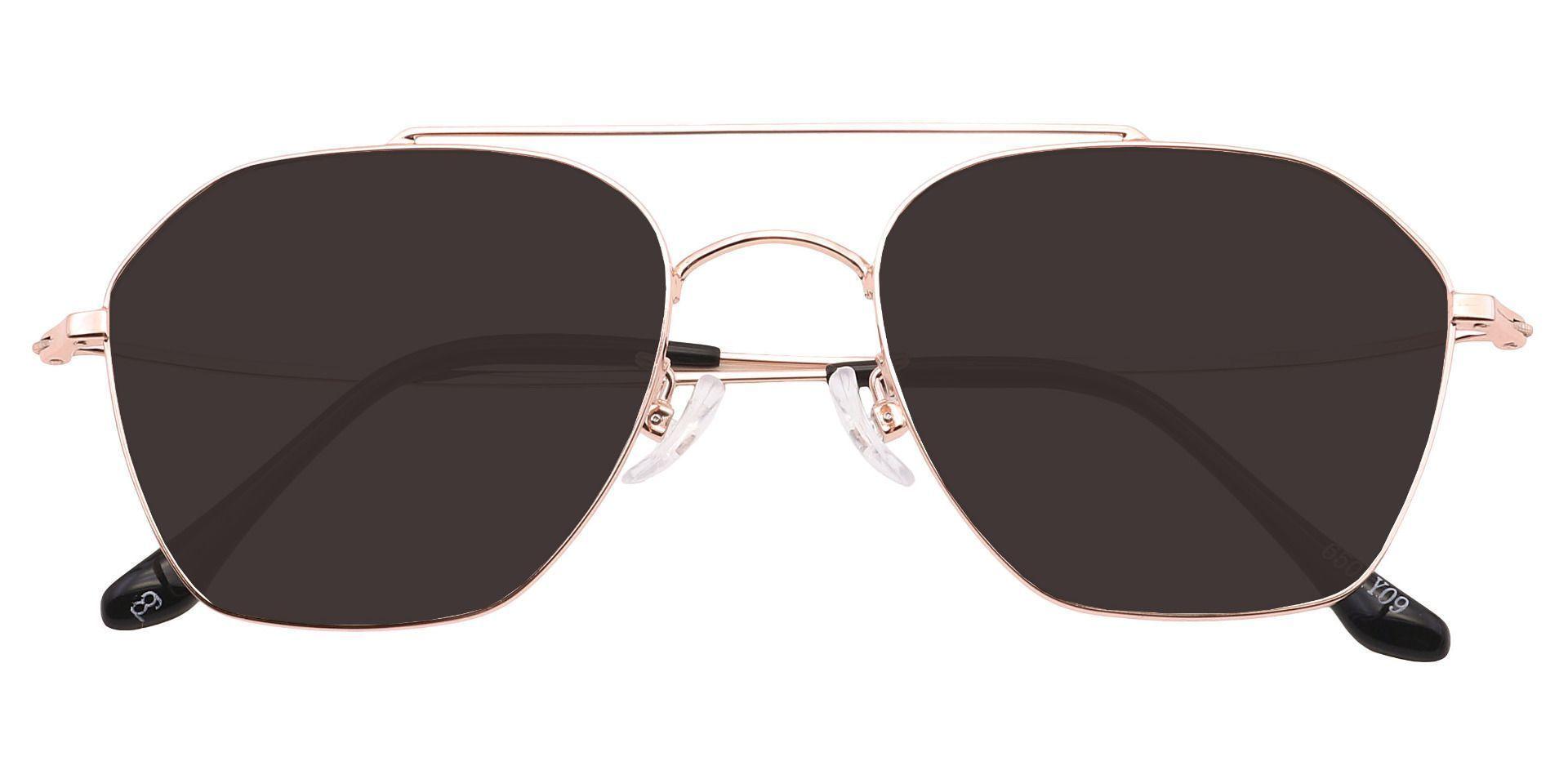 Judah Aviator Single Vision Sunglasses - Yellow Frame With Gray Lenses