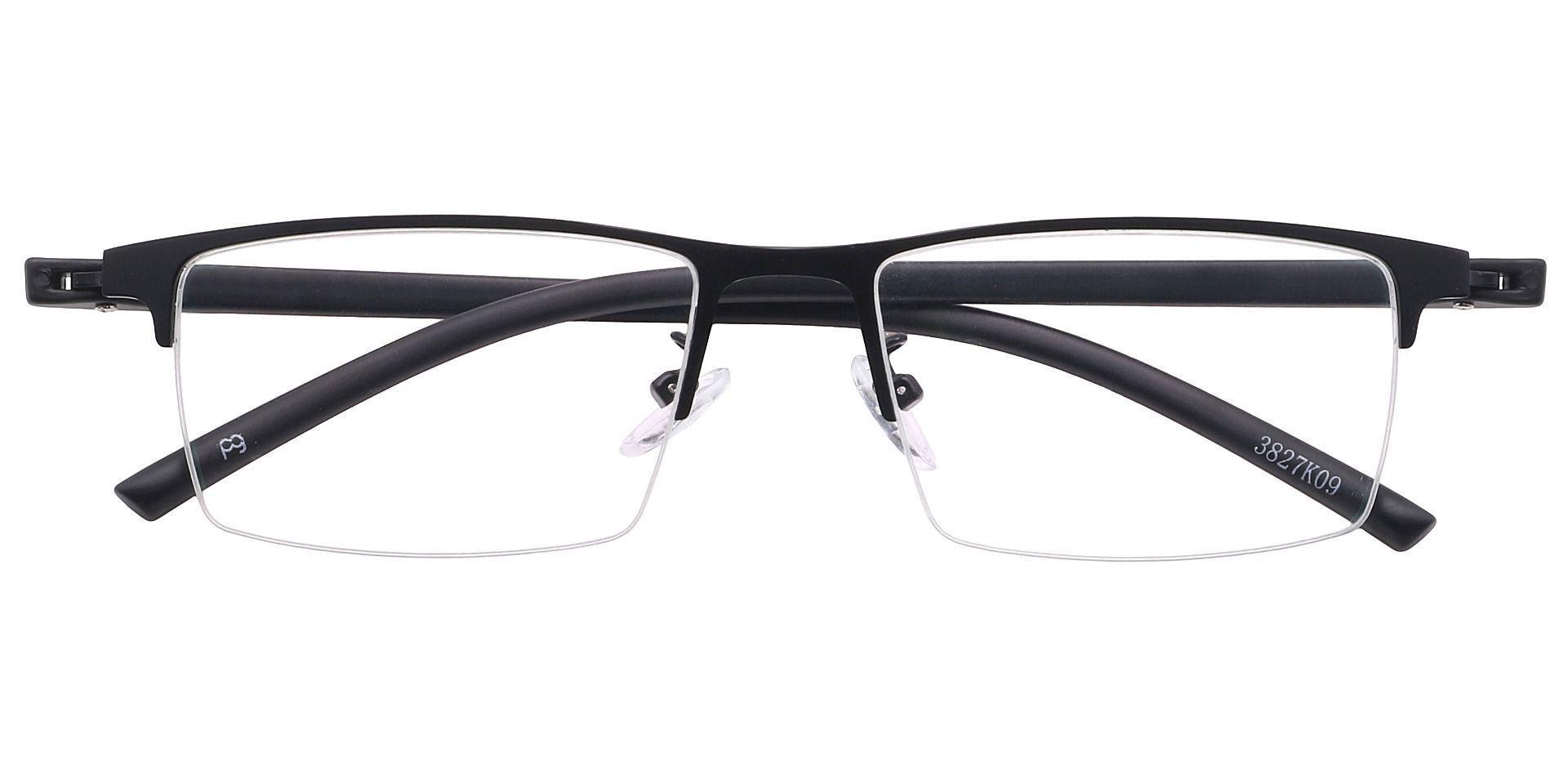 Haskell Rectangle Prescription Glasses - Black