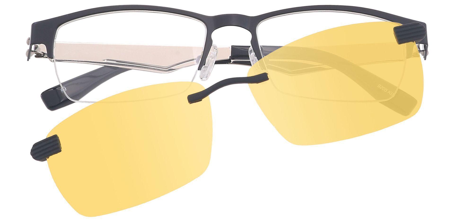 Stefani Rectangle Prescription Glasses - Black