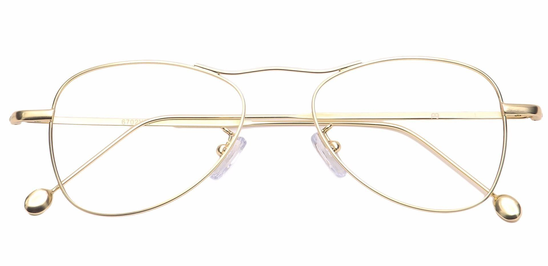 Brio Aviator Non-Rx Glasses - Gold