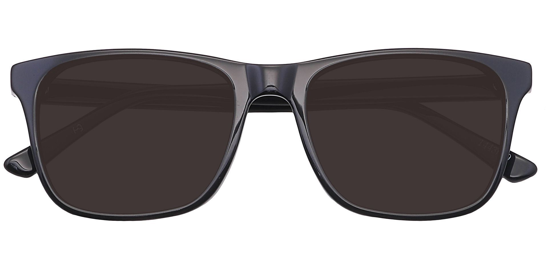 Cantina Square Prescription Sunglasses - Black Frame With Gray Lenses