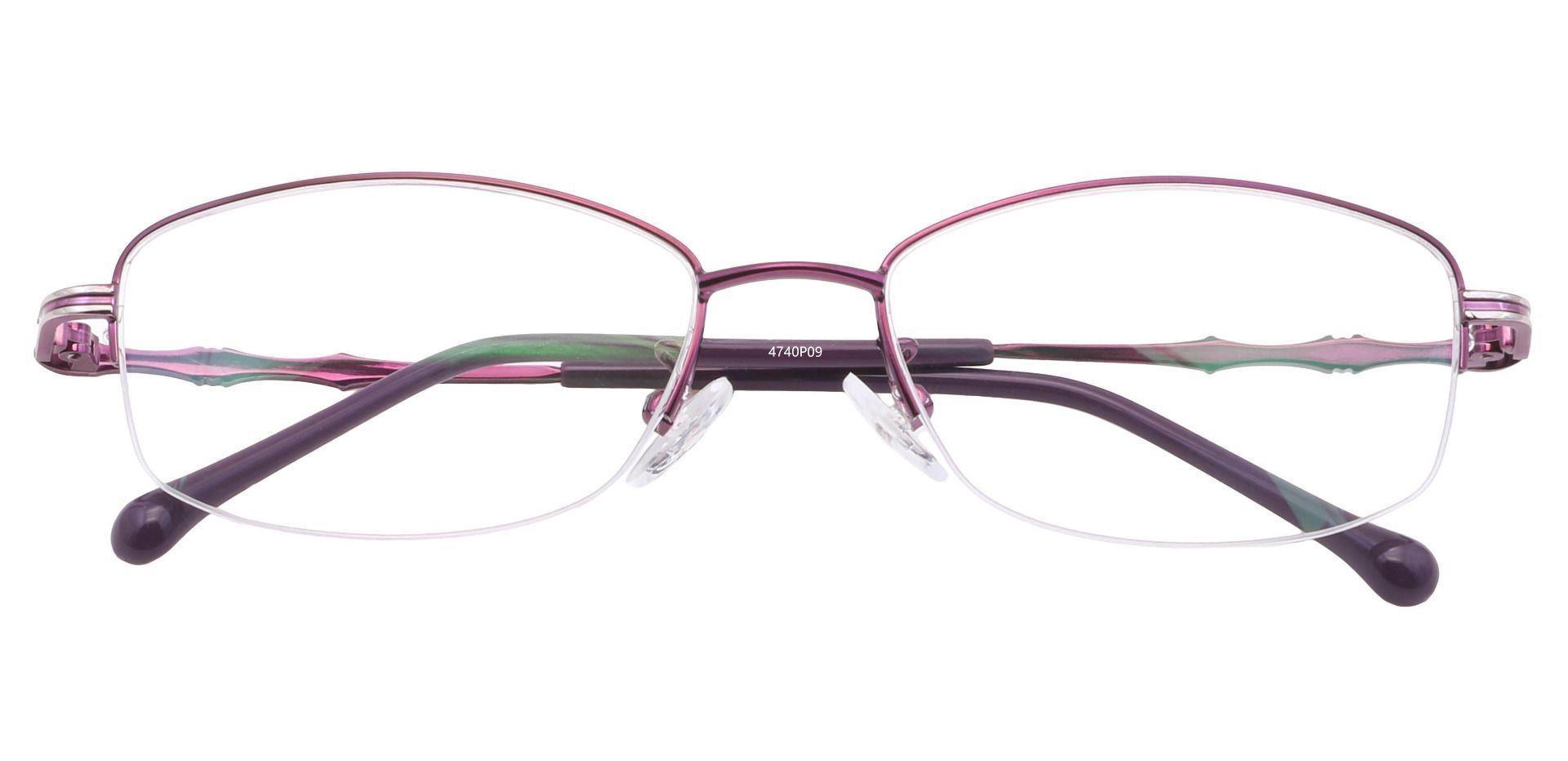 Alva Oval Prescription Glasses - Purple