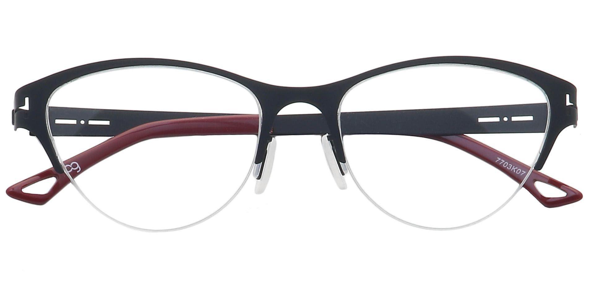 Ain Cat-Eye Non-Rx Glasses - Black