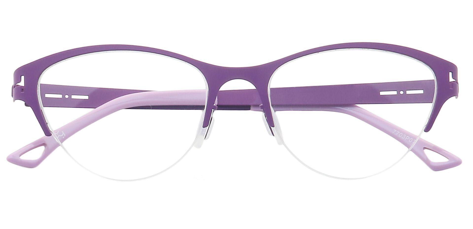 Ain Cat-Eye Blue Light Blocking Glasses - Purple