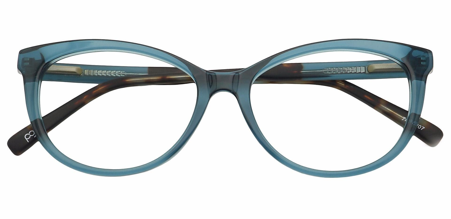 Iris Cat-Eye Prescription Glasses - Blue