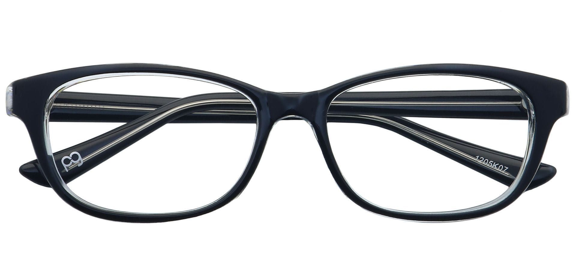 Reyna Classic Square Lined Bifocal Glasses - Black