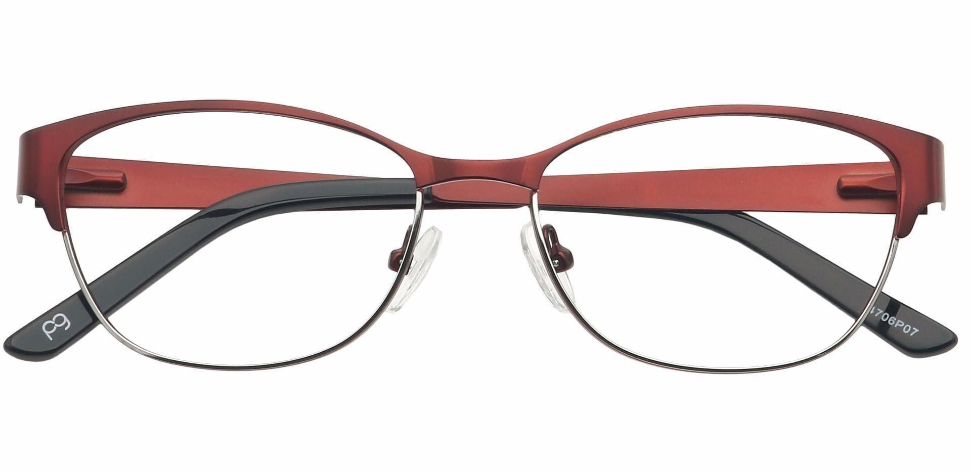 Verena Oval Prescription Glasses - Red