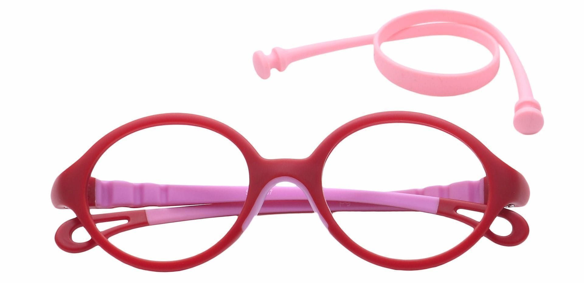 Whimsy Oval Progressive Glasses - Red