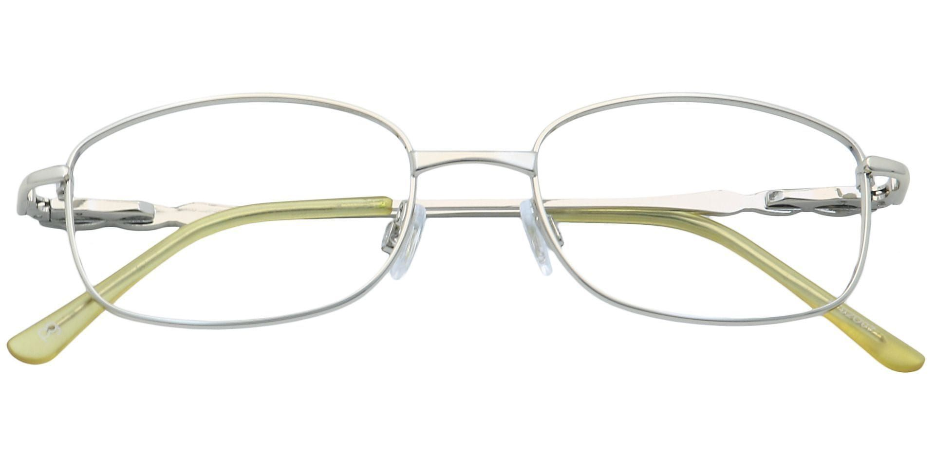 Halley Oval Prescription Glasses - Silver