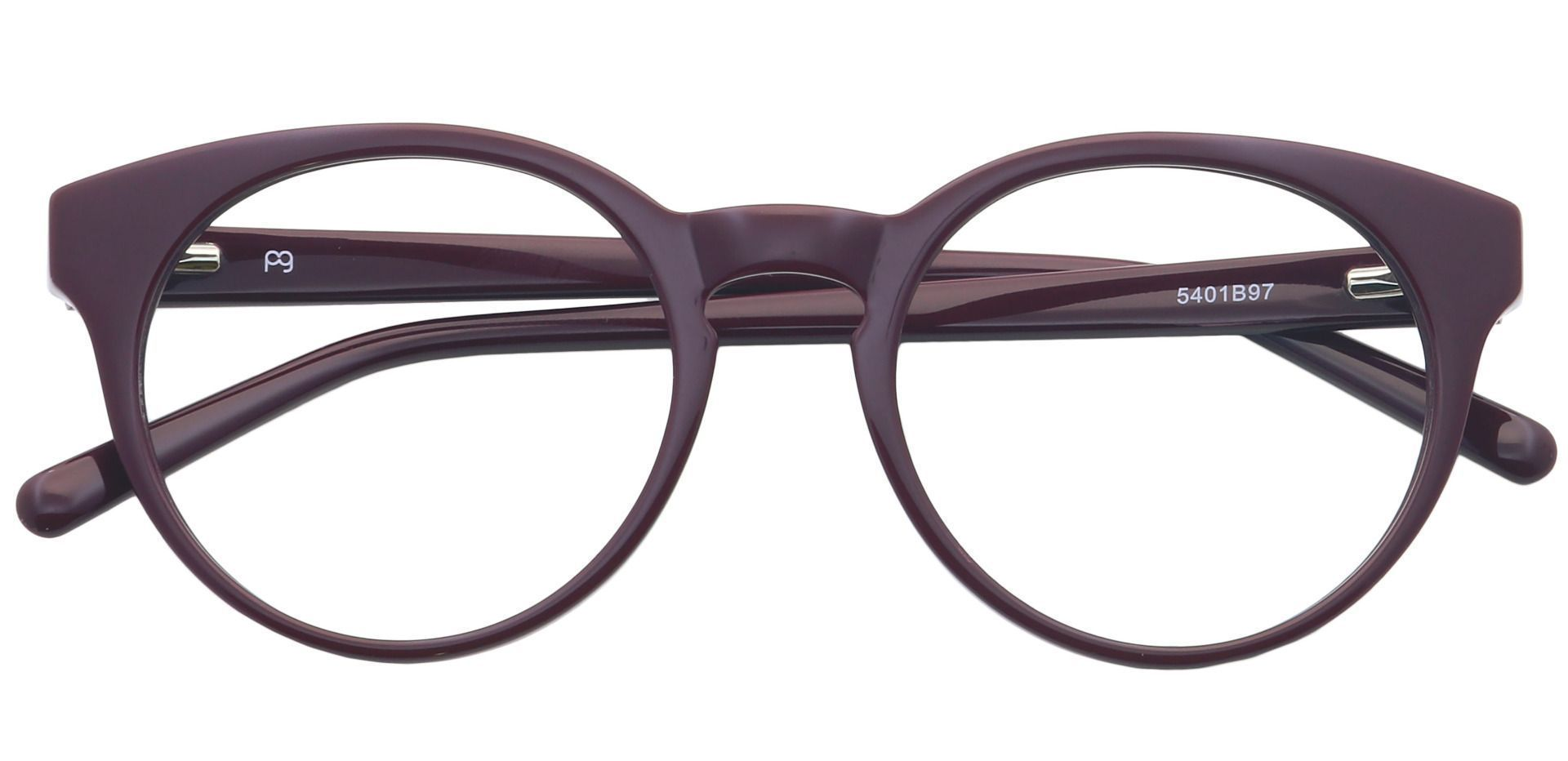 Spright Round Eyeglasses Frame - Wine