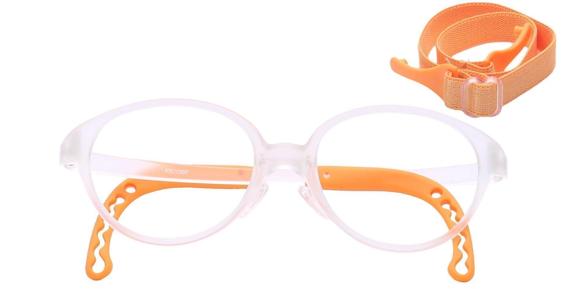 Zany Oval Eyeglasses Frame - Orange