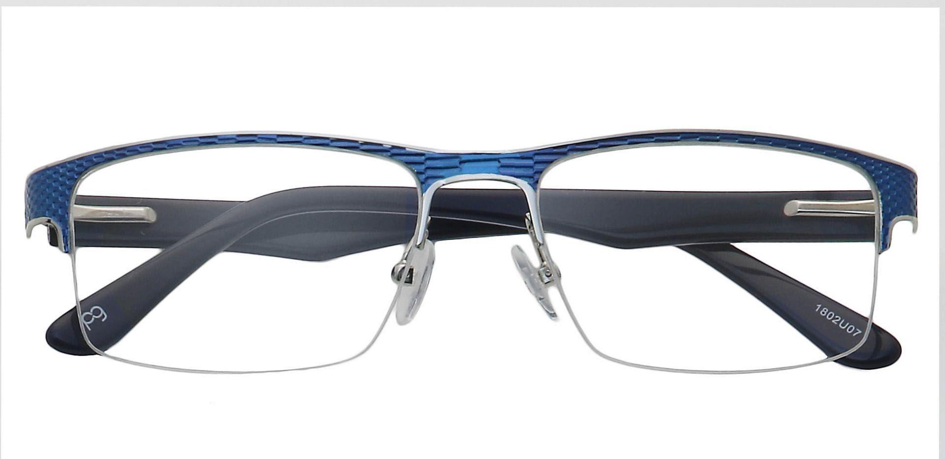 Rochelle Square Progressive Glasses - Blue
