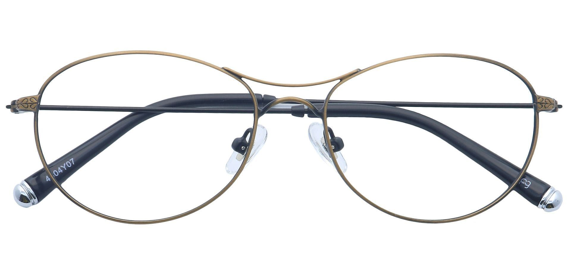 Zadie Aviator Non-Rx Glasses - Antique Gold