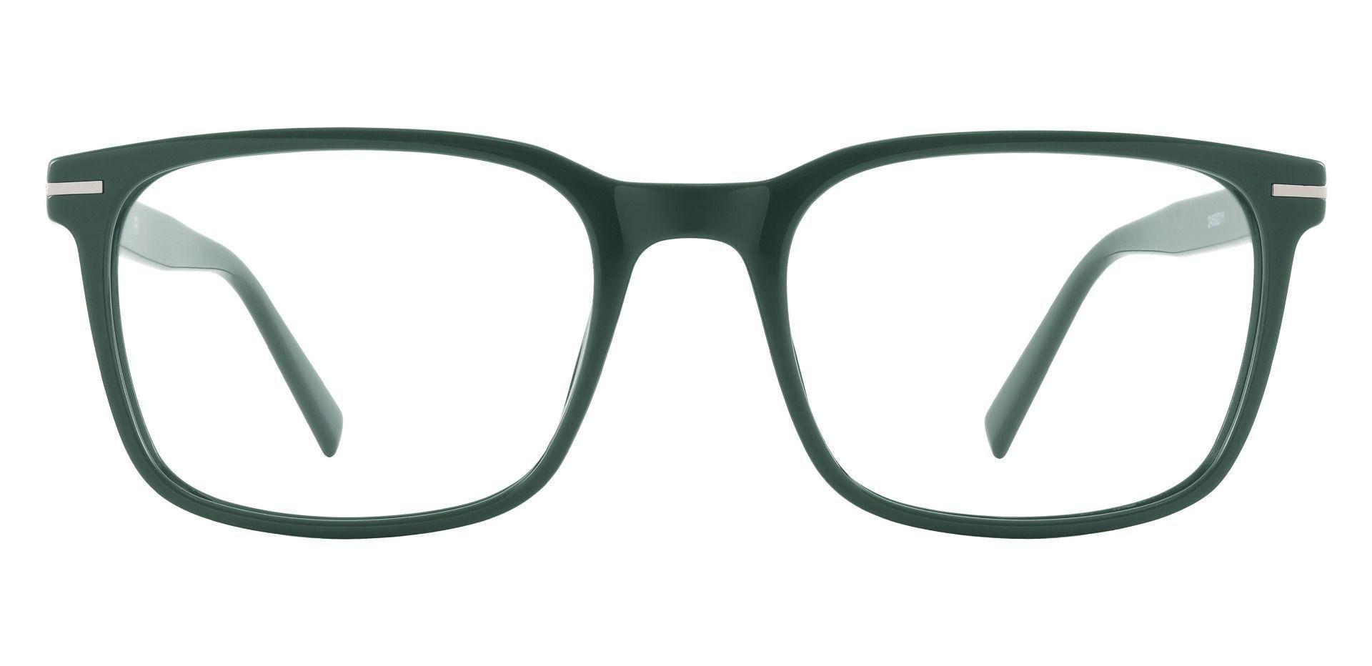 Rutherford Rectangle Prescription Glasses - Green
