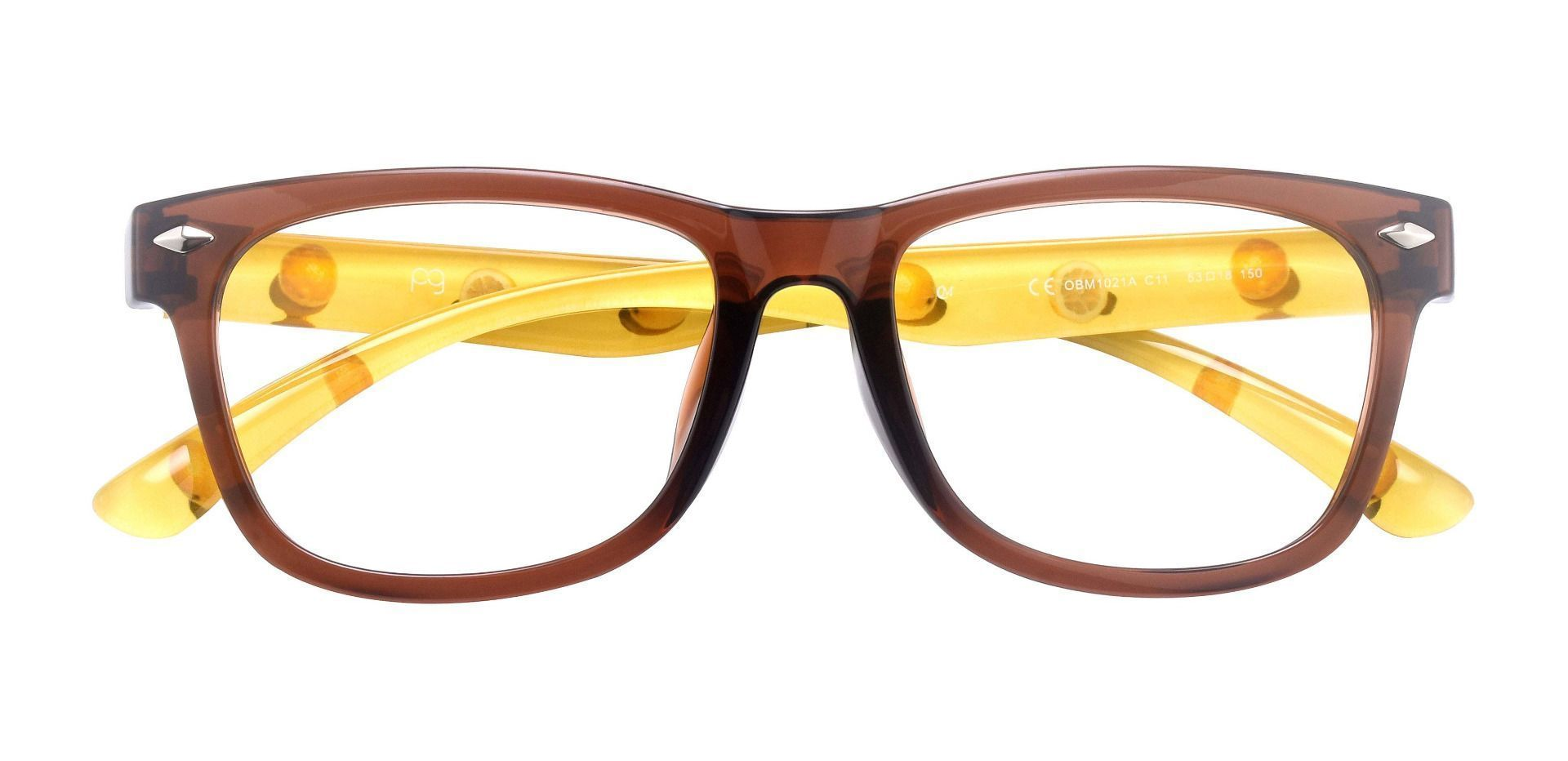 Tessa Classic Square Prescription Glasses - Yellow