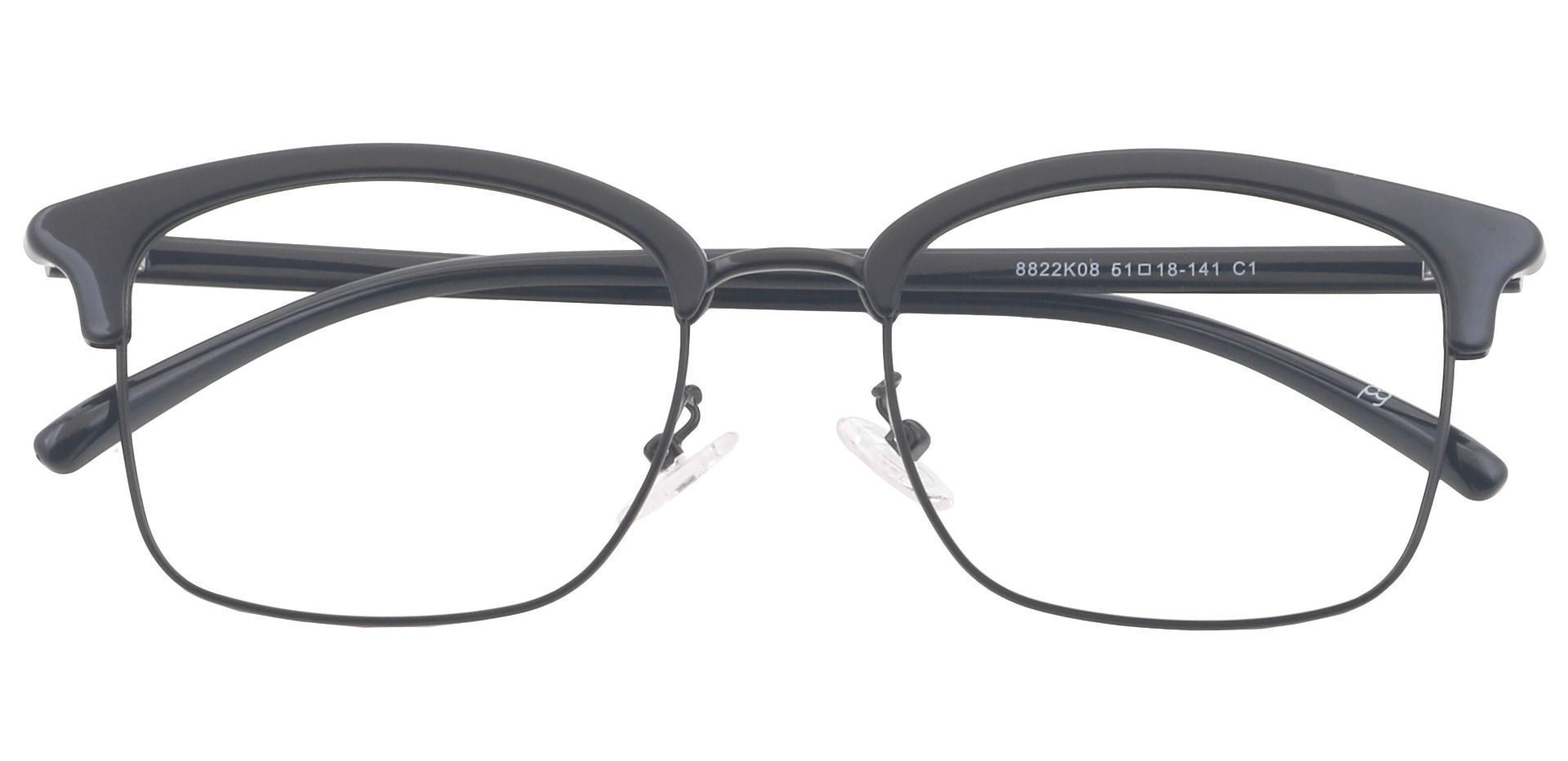 Rally Rectangle Prescription Glasses - Black
