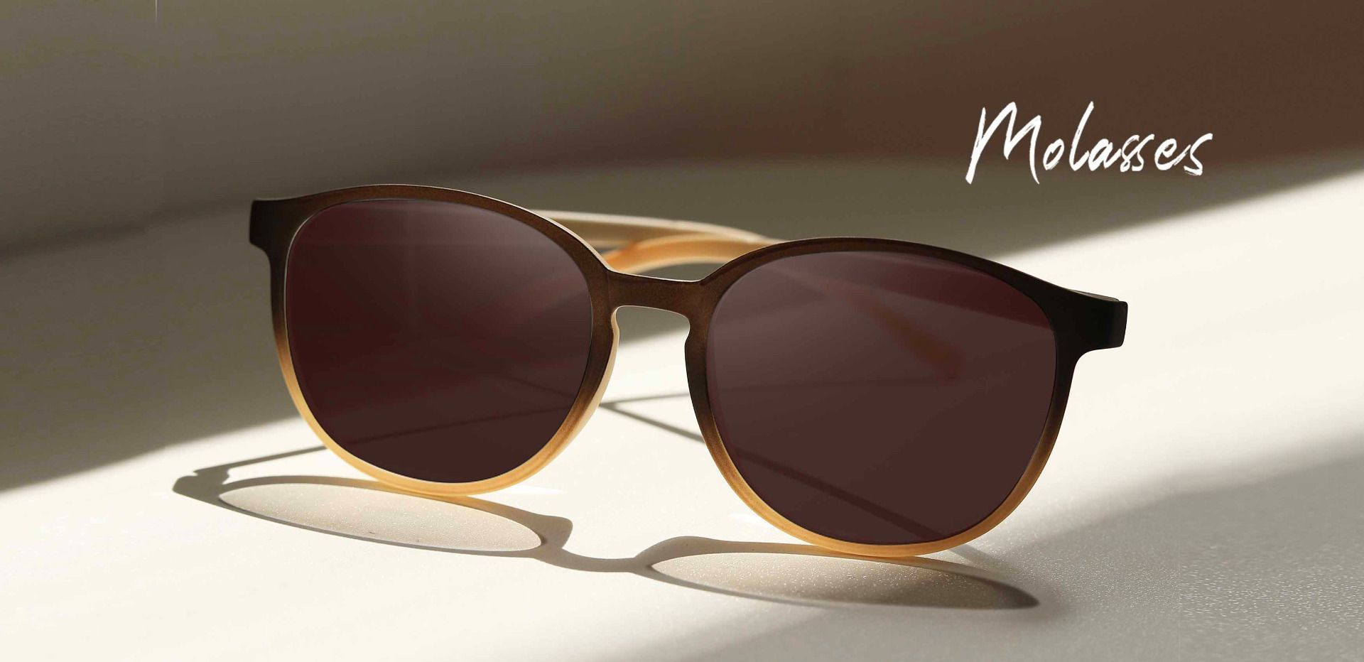 Molasses Oval Prescription Sunglasses - Brown Frame With Brown Lenses
