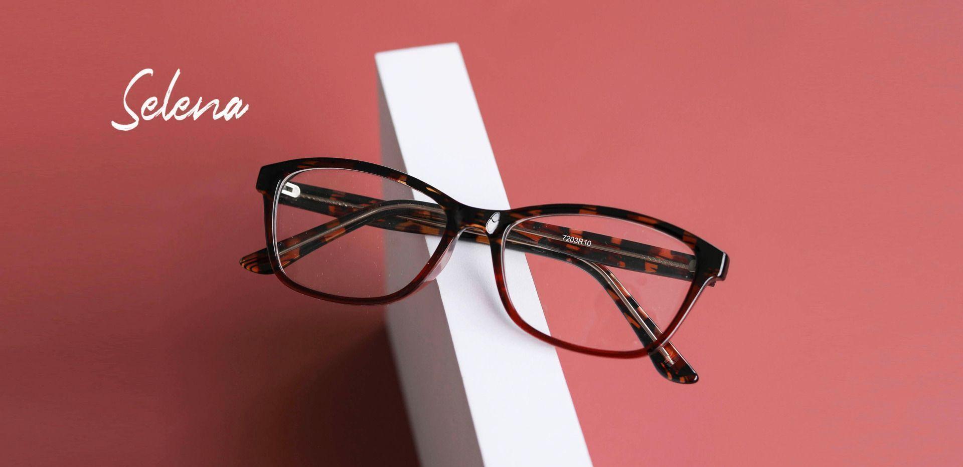 Selena Rectangle Prescription Glasses - Red