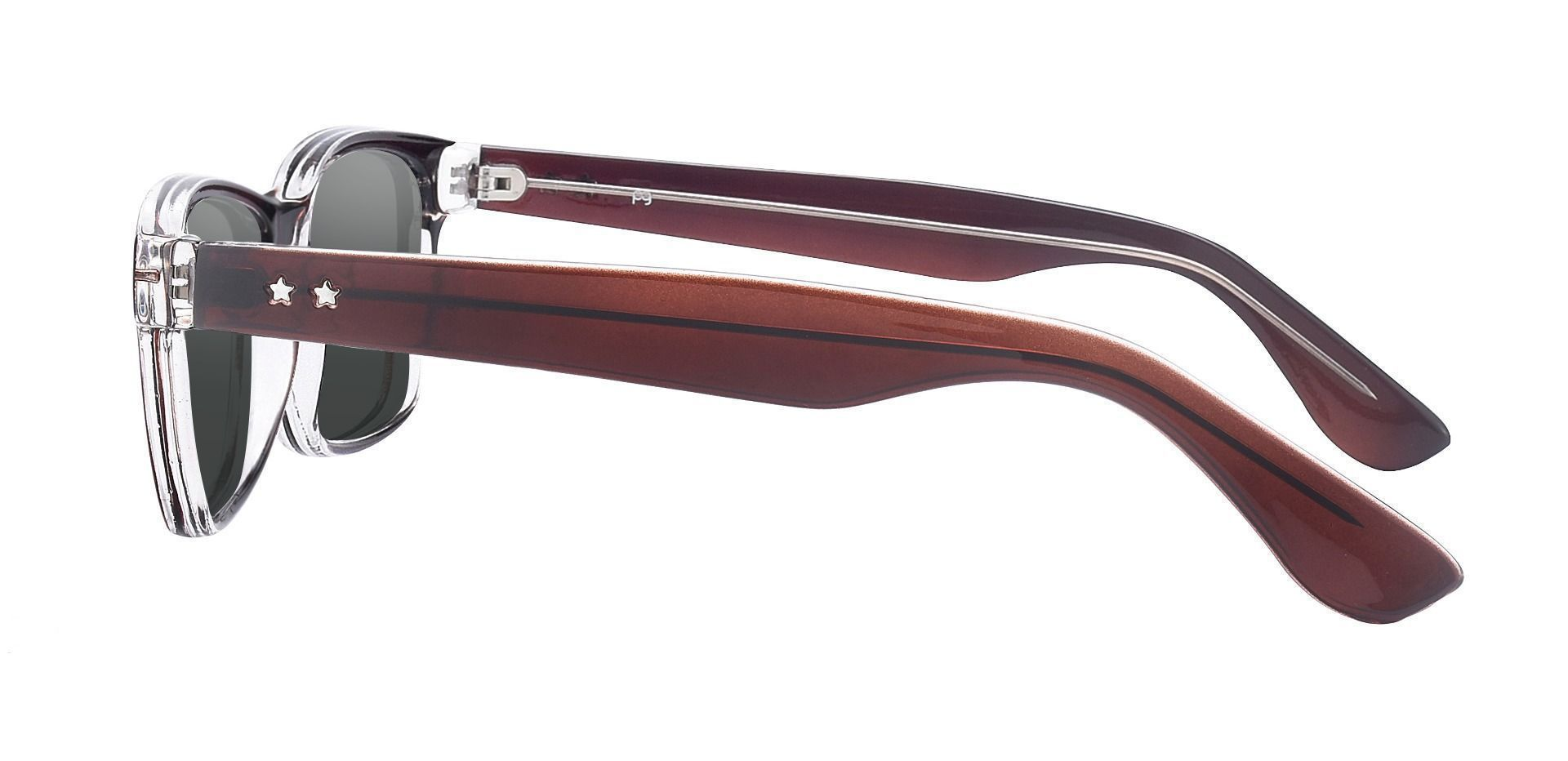 Cochran Rectangle Prescription Sunglasses - Brown Frame With Gray Lenses